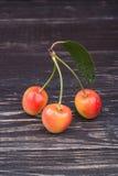 Tre ciliege Fotografia Stock Libera da Diritti