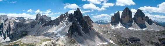 Tre cime di Lavaredo和登上Paterno 免版税库存图片