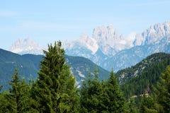 Tre Cime di Lavaredo风景 免版税图库摄影