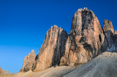 Tre Cime di Lavaredo, доломит альп Стоковые Фотографии RF