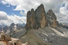 Tre Cime di Lavaredo от Monte Paterno стоковое изображение rf