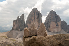 Tre Cime di Lavaredo Photos stock