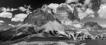 Tre Cime Di Lavaredo, alpi dell'Italia Immagini Stock Libere da Diritti