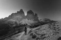 Tre Cime Di Lavaredo, alpi dell'Italia Fotografie Stock Libere da Diritti