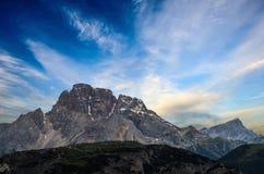 Tre Cime di Lavaredo Alpi delle dolomia L'Italia Fotografia Stock Libera da Diritti