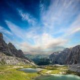 Tre Cime di Lavaredo Alpi delle dolomia L'Italia Immagine Stock Libera da Diritti