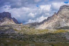 Tre Cime di Lavaredo Alpine-clubhut Stock Fotografie