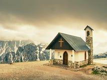 Tre Cime di Lavaredo, conhecido também como Drei Zinnen, cumes da dolomite Fotos de Stock Royalty Free