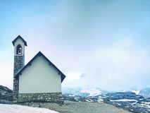 Tre Cime di Lavaredo, conhecido também como Drei Zinnen, cumes da dolomite Foto de Stock Royalty Free