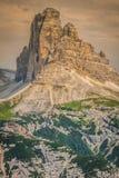 Tre Cime di Lavaredo in Cortina d'Ampezzo, - Dolomites, Italy Royalty Free Stock Images