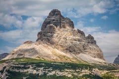 Tre Cime di Lavaredo in Cortina d'Ampezzo, - Dolomites, Italy Royalty Free Stock Photo