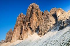 Tre Cime di Lavaredo, dolomías, Italia Fotografía de archivo libre de regalías