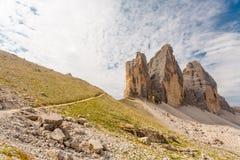 Tre Cime Di Lavaredo, dolomit góry, Włochy Zdjęcie Stock