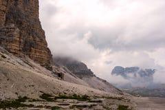 Tre Cime di Lavaredo, Dolomit, Italien Lizenzfreies Stockfoto