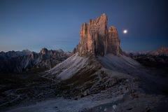 Tre Cime Di Lavaredo, Dolomit Italien, Alpen stockbilder