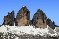 Tre cime di Lavaredo Royalty Free Stock Photography