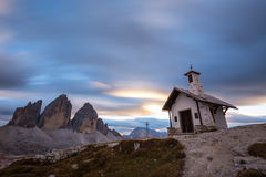Tre Cime di Lavaredo  in Dolomite Alps - Italy. Tre Cime di Lavaredo ` Drei Zinnen ` in Dolomite Alps - Italy. Europe Royalty Free Stock Photo