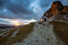 Tre Cime di Lavaredo  in Dolomite Alps - Italy. Tre Cime di Lavaredo ` Drei Zinnen ` in Dolomite Alps - Italy. Europe Stock Photography