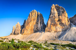 Tre Cime di Lavaredo, Dolomite Alps Royalty Free Stock Photo