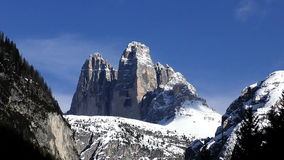 Tre Cime di Lavaredo, Dolomite mountains stock video