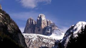 Tre Cime di Lavaredo. Dolomite mountains, Italy, 4K video stock video footage