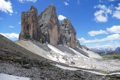 Tre Cime di Lavaredo Dolomites意大利 库存照片