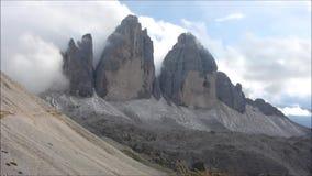 Tre Cime di Lavaredo. In Dolomites stock video footage