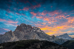 Tre Cime di Lavaredo. Dolomites alps. Italy Stock Photo