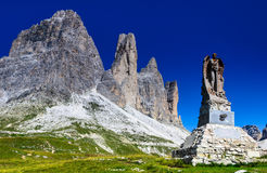 Tre Cime di Lavaredo, Dolomites, Alps Royalty Free Stock Photography