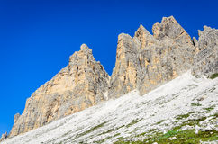 Tre Cime di Lavaredo, Dolomites, Alps Royalty Free Stock Photo
