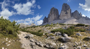 Tre Cime di Lavaredo, dolomites, Itália Fotografia de Stock Royalty Free