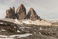 Tre Cime di Lavaredo, Dolomites Stock Photos
