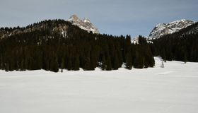 Tre Cime di Lavaredo Drei Zinnen, Dolomiet, Veneto Royalty-vrije Stock Foto