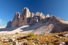 Tre Cime di Lavaredo  Drei Zinnen  - Dolomite Stock Photography