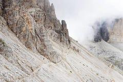 Tre Cime Di Lavaredo, het Sexten-Dolomiet stock foto