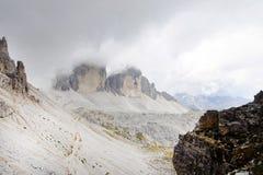 Tre Cime Di Lavaredo, het Sexten-Dolomiet stock foto's