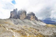 Tre Cime Di Lavaredo, het Sexten-Dolomiet royalty-vrije stock foto's