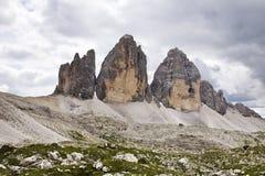 Tre Cime di Lavaredo - Italia Foto de archivo libre de regalías