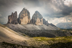 Tre Cime di Lavaredo in the Italian Dolomites Royalty Free Stock Image