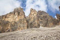 Tre Cime Di Lavaredo, Italien Stockbild
