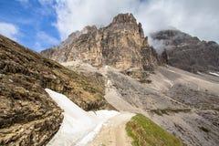 Tre Cime Di Lavaredo, Italien Stockfotos