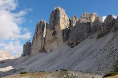 Tre Cime Di Lavaredo Italien Fotografering för Bildbyråer