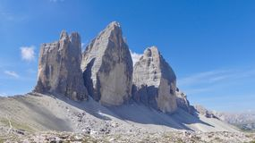 Tre Cime Di Lavaredo, Italien lizenzfreies stockfoto