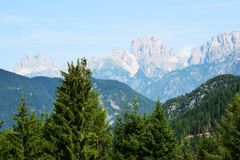 Tre Cime di Lavaredo landscape Royalty Free Stock Photography