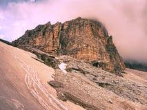 Tre Cime di Lavaredo massif, également connu comme Drei Zinnen Images libres de droits