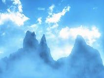 Tre Cime di Lavaredo massif, également connu comme Drei Zinnen Image stock