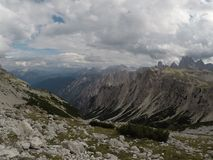 Tre Cime di Lavaredo. The most photographed mountain in Italy Royalty Free Stock Photography