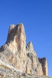 Tre Cime Di Lavaredo mountain peaks Royalty Free Stock Photo