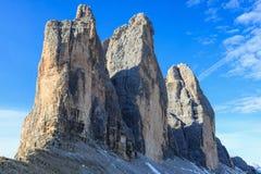 Drei zinnen Mountain Peaks Royalty Free Stock Photos