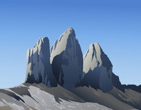 Tre cime di Lavaredo mountains Royalty Free Stock Photography